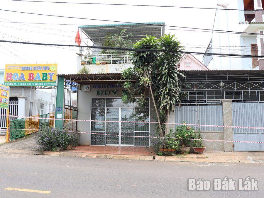Phong tỏa một số hộ dân trên đường Giải Phóng, phường Tân Thành.