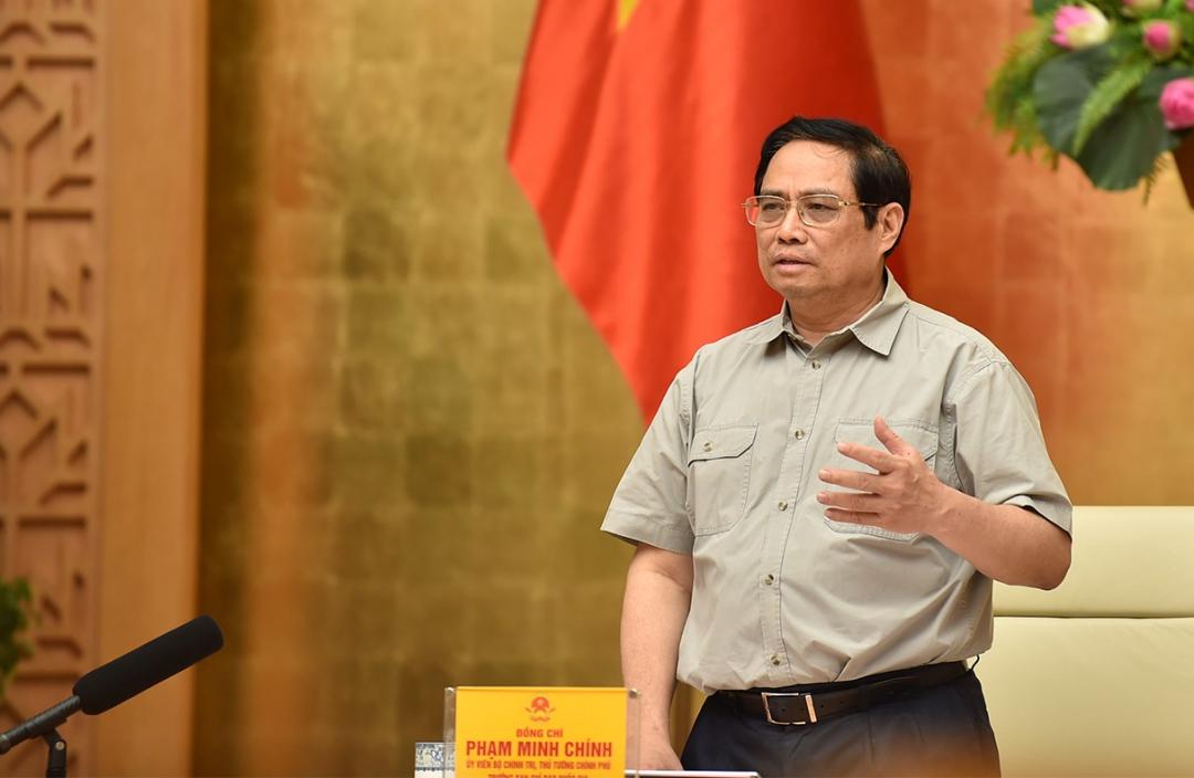 Thủ tướng Chính phủ Phạm Minh Chính kết luận tại cuộc họp. Ảnh: VGP