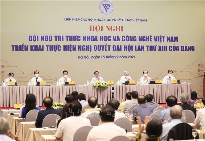 Hội nghị tại điểm cầu Hà Nội. Ảnh: Thông tấn xã Việt Nam