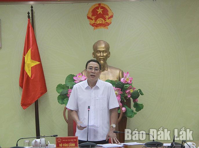 Phó Chủ tịch UBND tỉnh Võ Văn Cảnh kết luận hội nghị