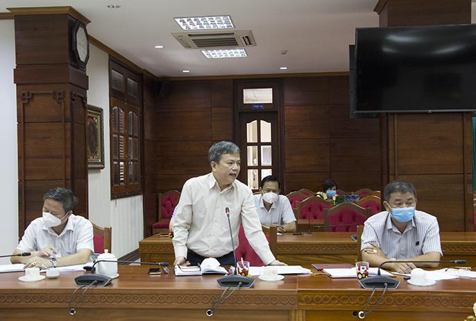 Đại diện Cục Hải quan Đắk Lắk chia sẻ y kiến tại hội nghị