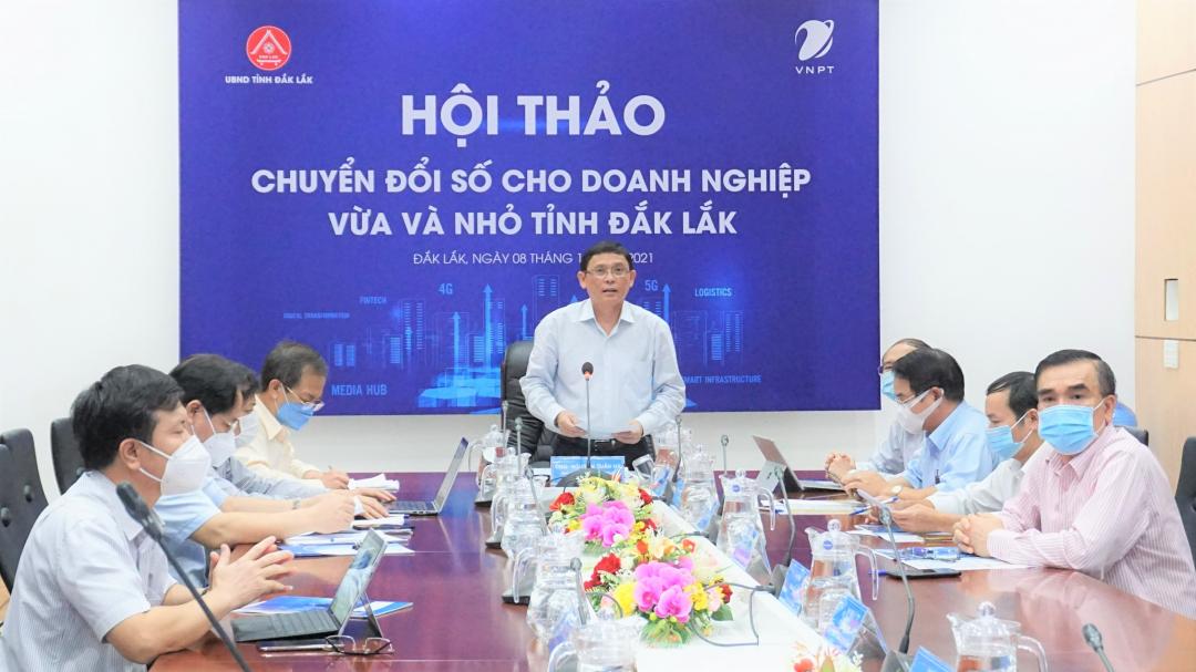 Phát biểu tại hội thảo, Phó Chủ tịch Thường trực UBND tỉnh Nguyễn Tuấn Hà