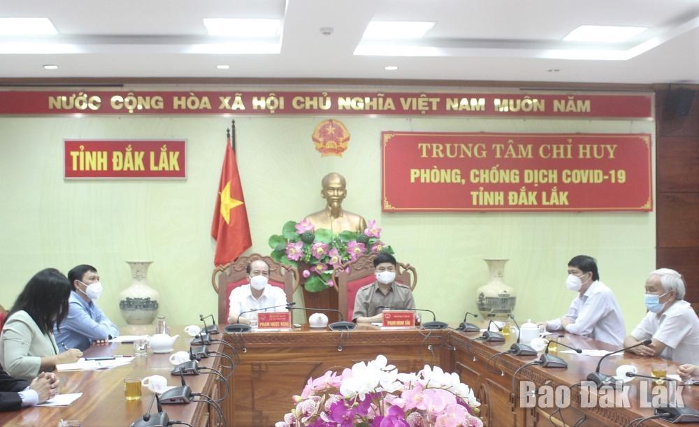 Đại biểu tham dự Lễ phát động tại điểm cầu Đắk Lắk.