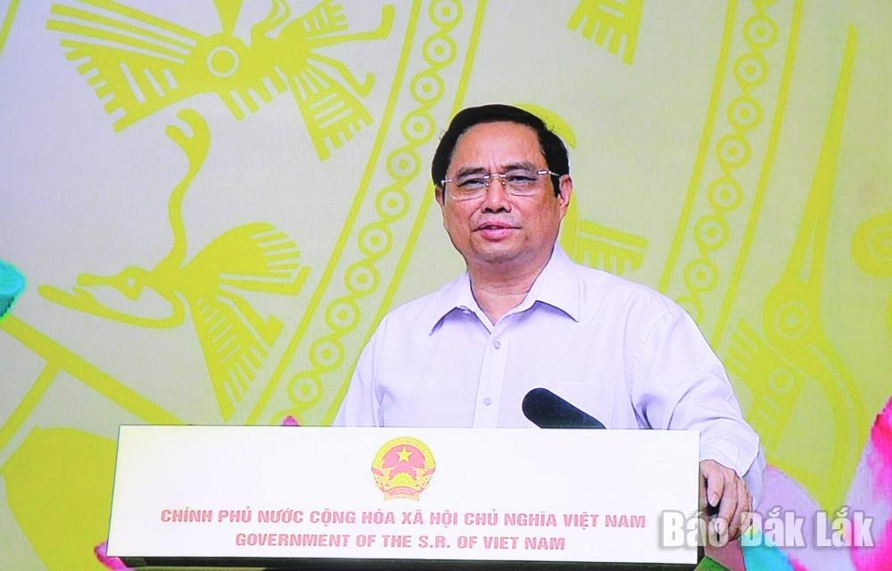 Thủ tướng Chính phủ Phạm Minh Chính phát biểu tại Lễ phát động. (Ảnh chụp màn hình)